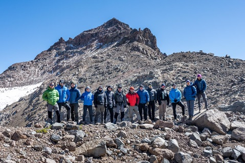 A team of Royal Marines and sailors climbed Mount Kenya as part of adventurous training