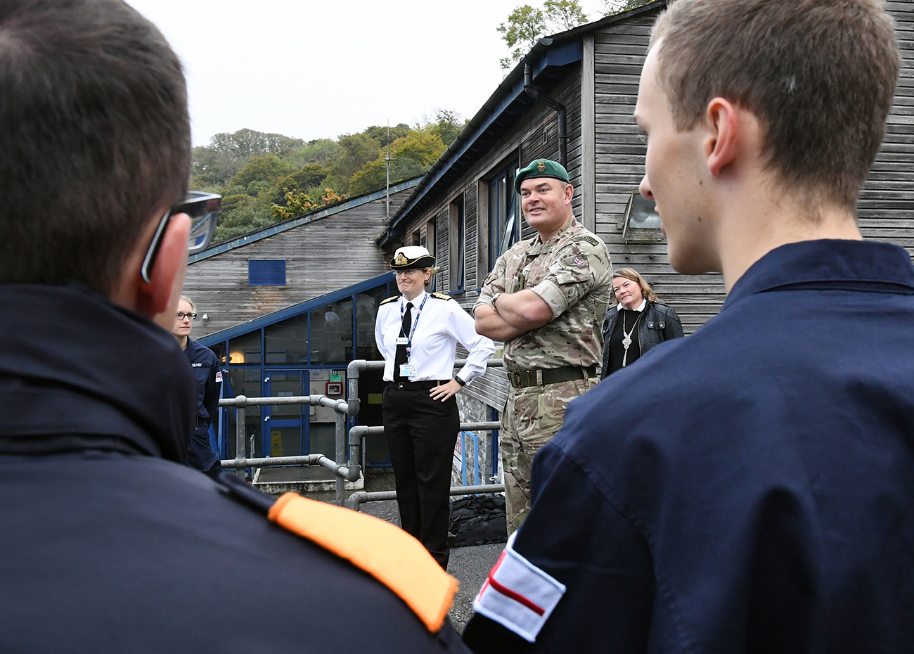 Commandant of CTC visits HMS Raleigh