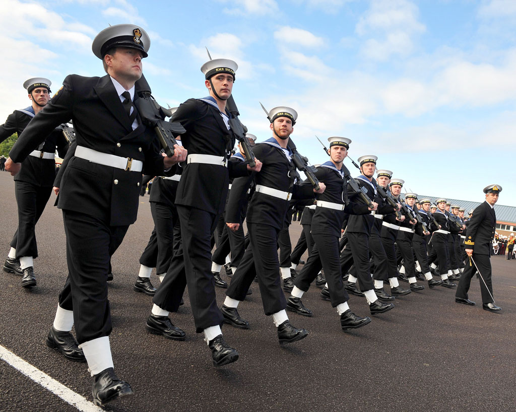 HMS Sultan Sailors March Through Gosport For Freedom Parade