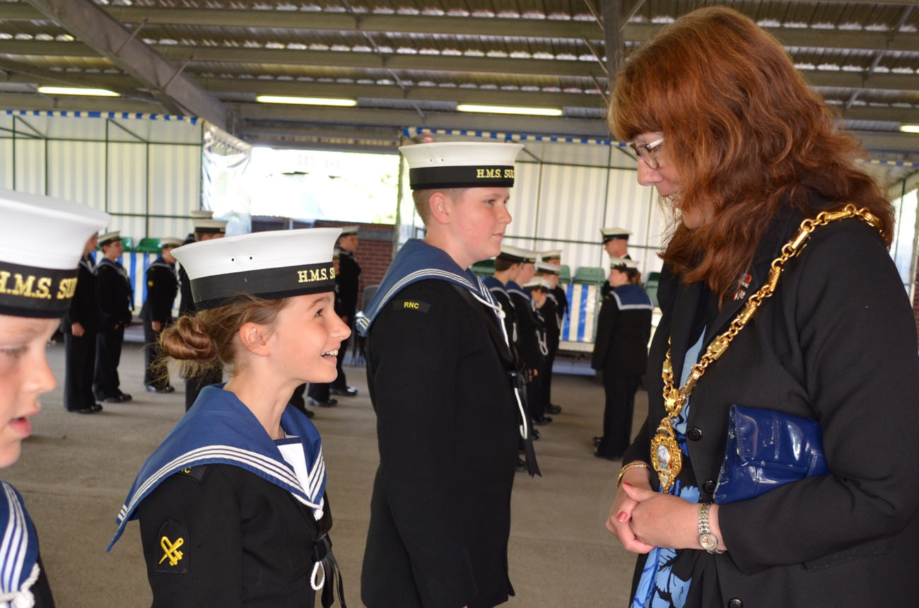 Mayor of Gosport presents awards to Sultan Cadets
