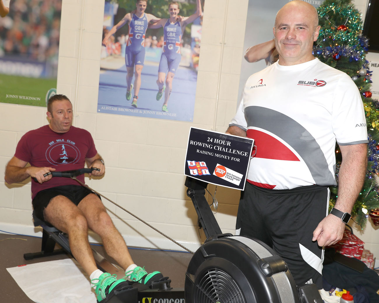 sultan personnel complete  hour tandem row  charity royal navy