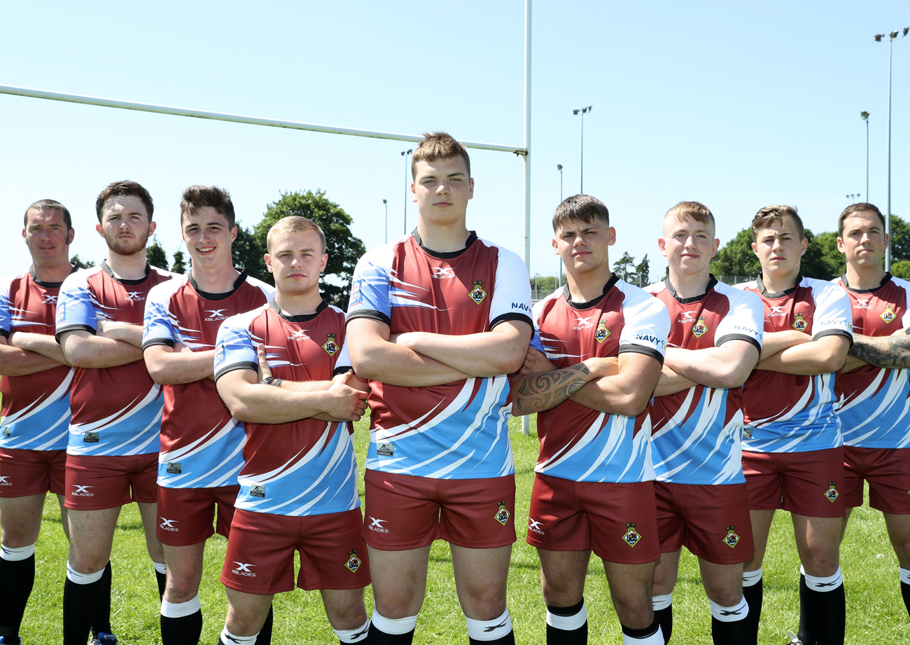 A Team Into hms sultan rugby team compete in benidorm 7's tournament