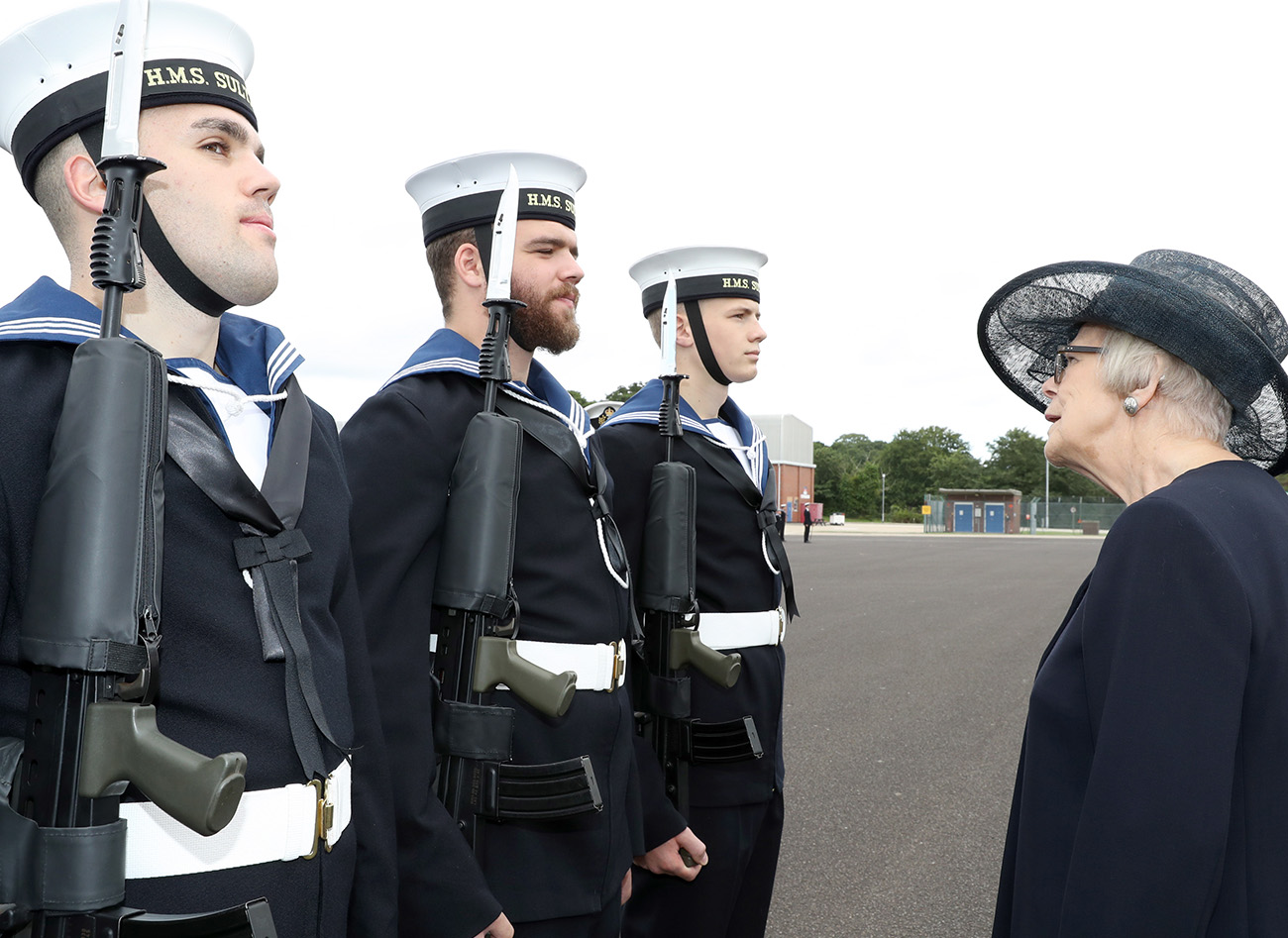 WRNS enjoy Ceremonial Divisions at HMS Sultan
