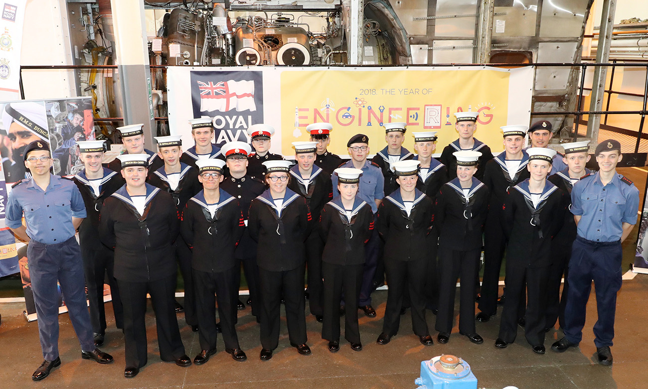 Sea Cadets get fully immersed in Engineering Summer Camp