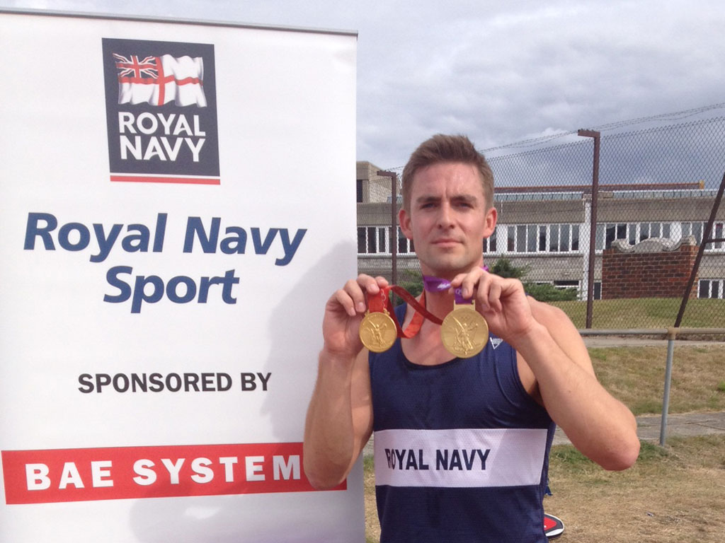 Navy's elite athlete Peter Reed takes part in fitness test