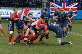 Royal Navy's commanding victory over the French in annual rugby fixture