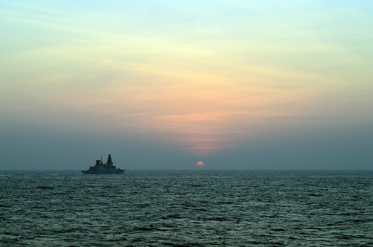 HMS Daring sails for Suez, her mission in the Middle East complete