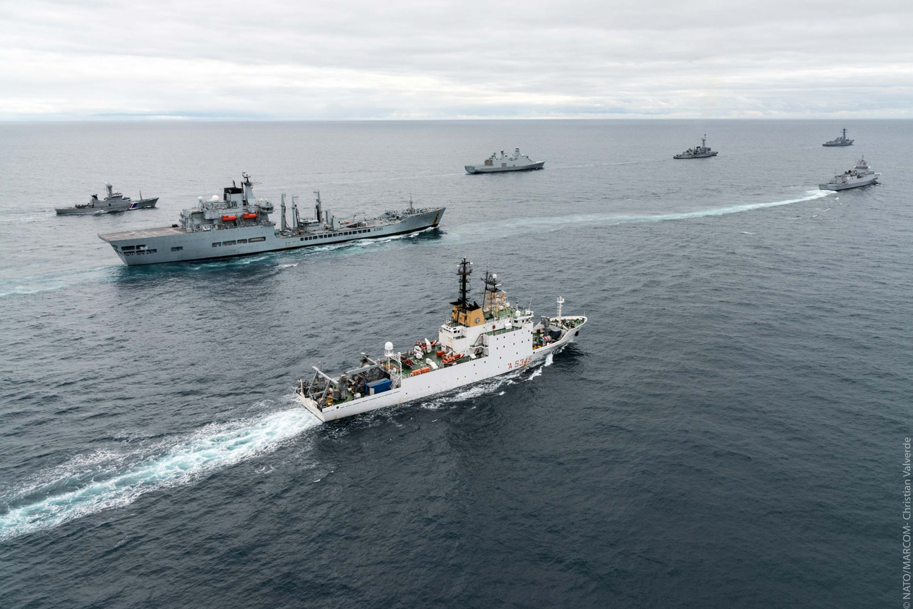 Wave Ruler with NATO ships during Exercise Dynamic Mongoose