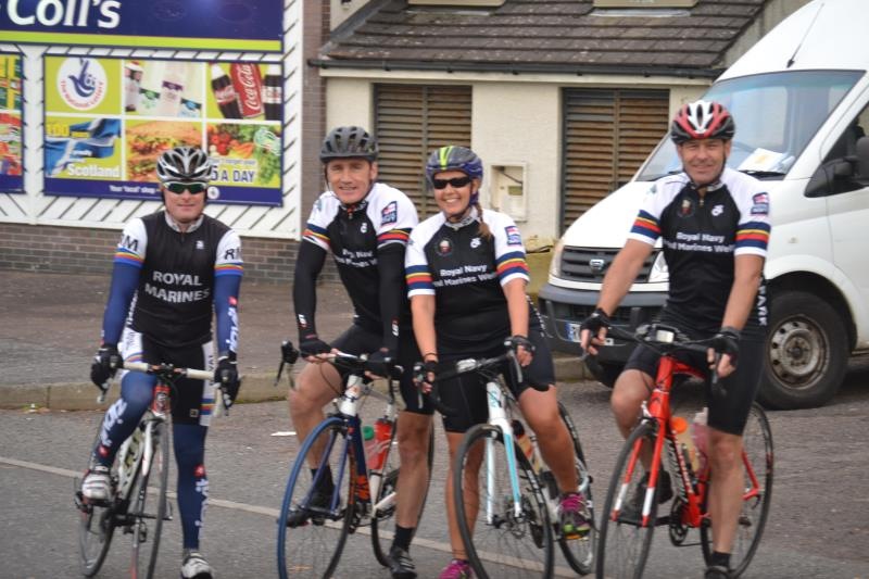 The riders at the start of leg two (L-R) Steve Lewis 195267f5f