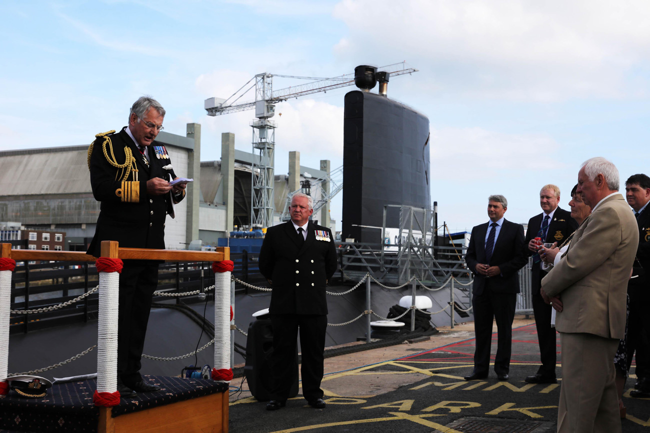 Relaunch of Royal Navy Museum submarine