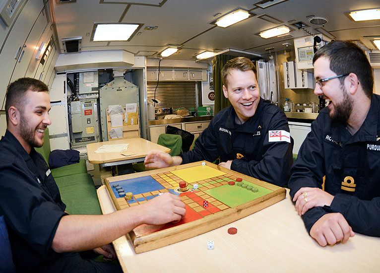 Royal Navy traditional game of uckers