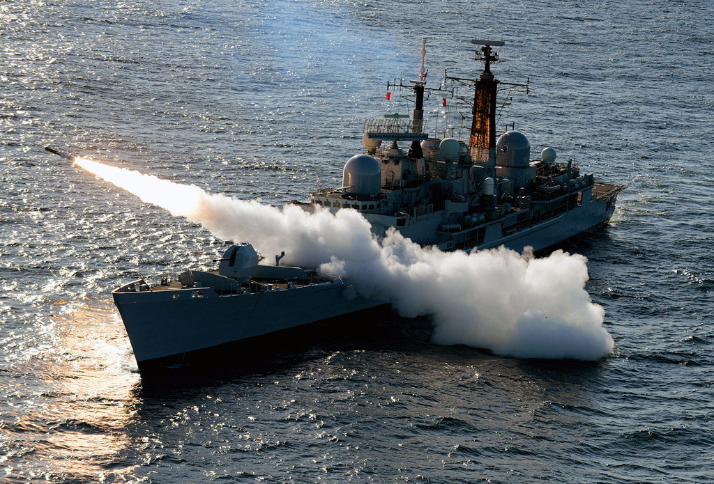 HMS Edinburgh Final Sea Dart Firing