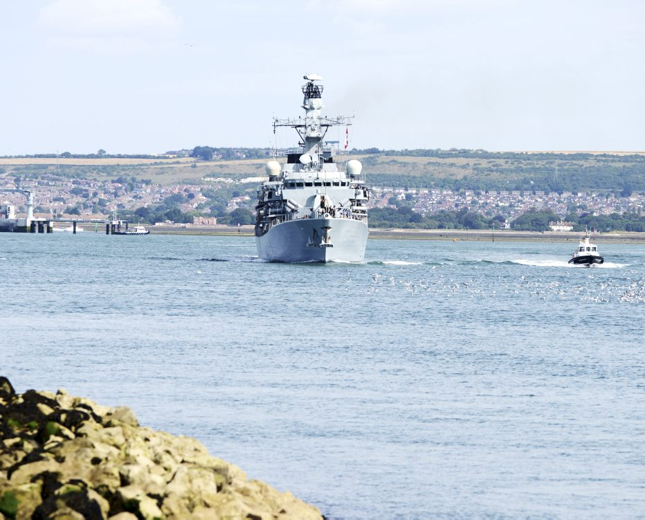 HMS Westminster sails for Cougar 13 deployment