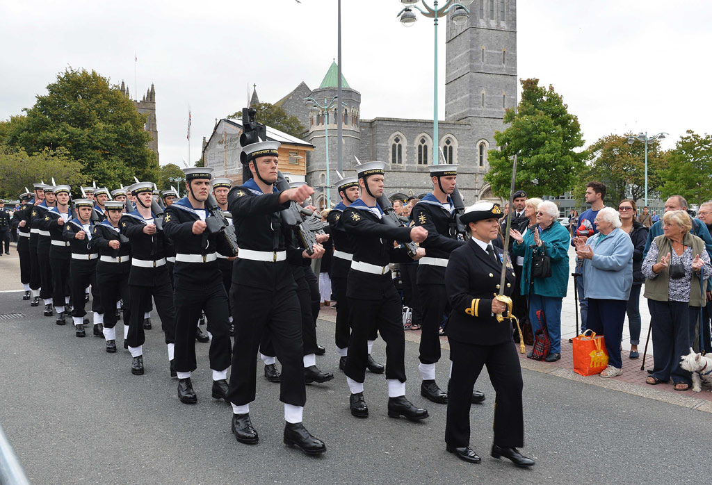 Naval Service in Plymouth Freedom of the City parade