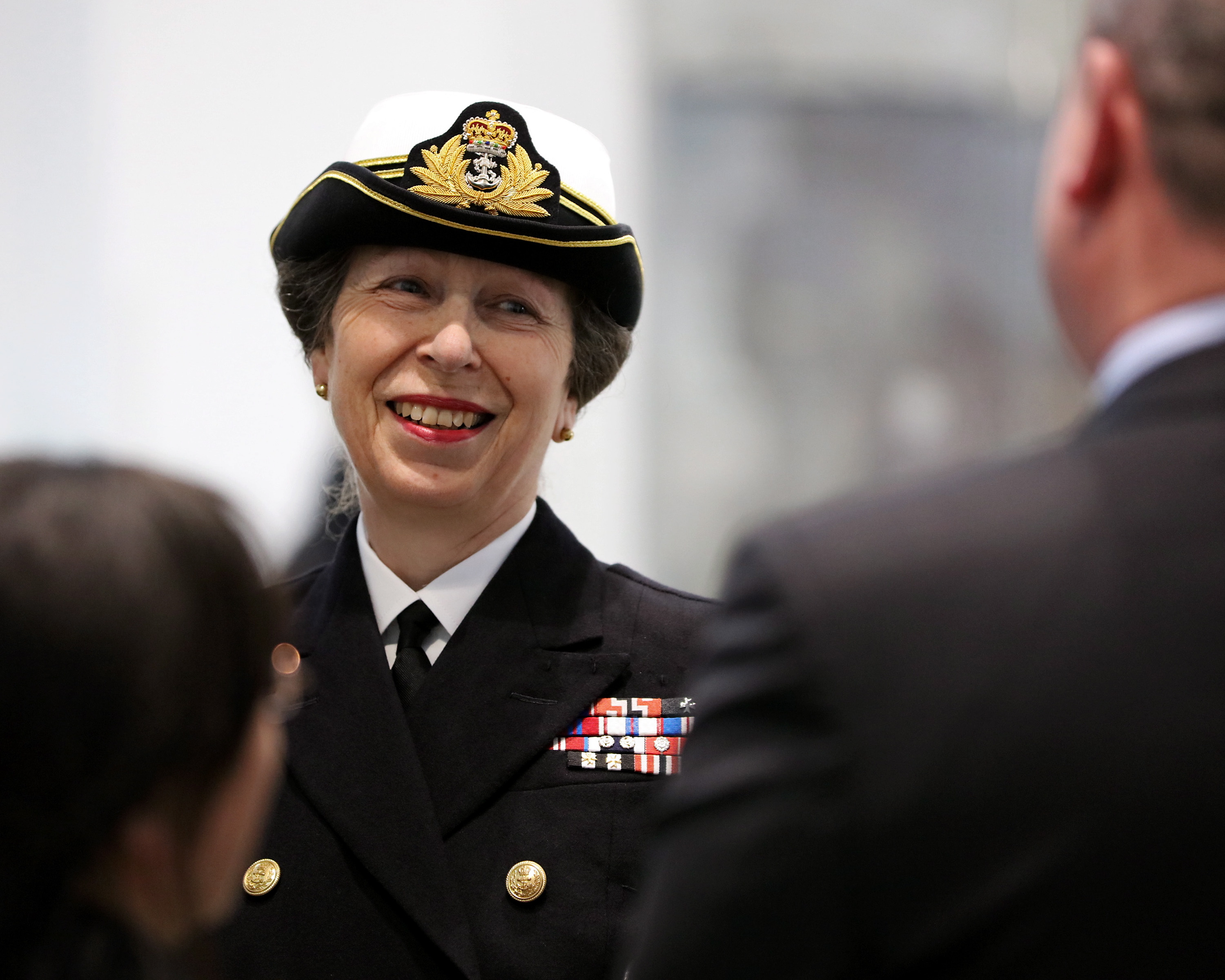 Her Royal Highness The Princess Royal has today officially named the jetty which will house the Royal Navy's giant new aircraft carriers in Portsmouth.
