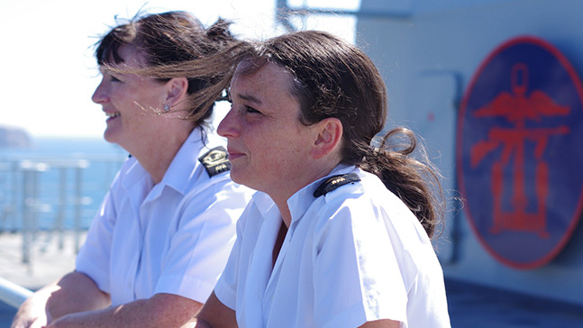 A Royal Fleet Auxiliary Steward Apprentice in uniform.