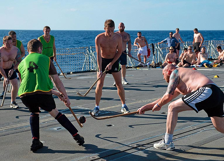 Royal Navy flight deck sports