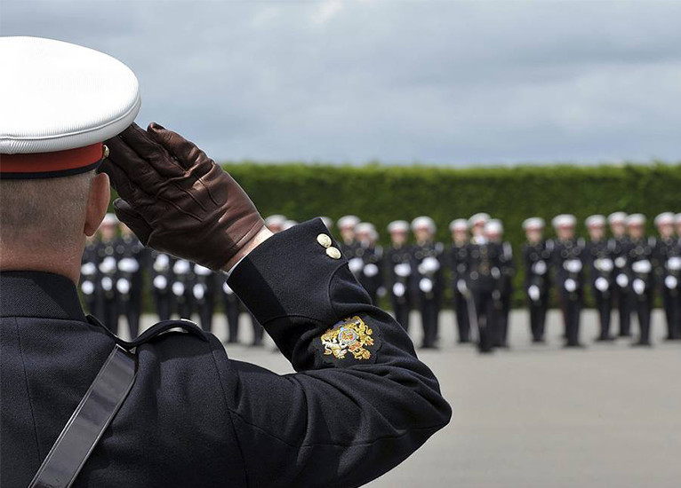 Royal Navy saluting