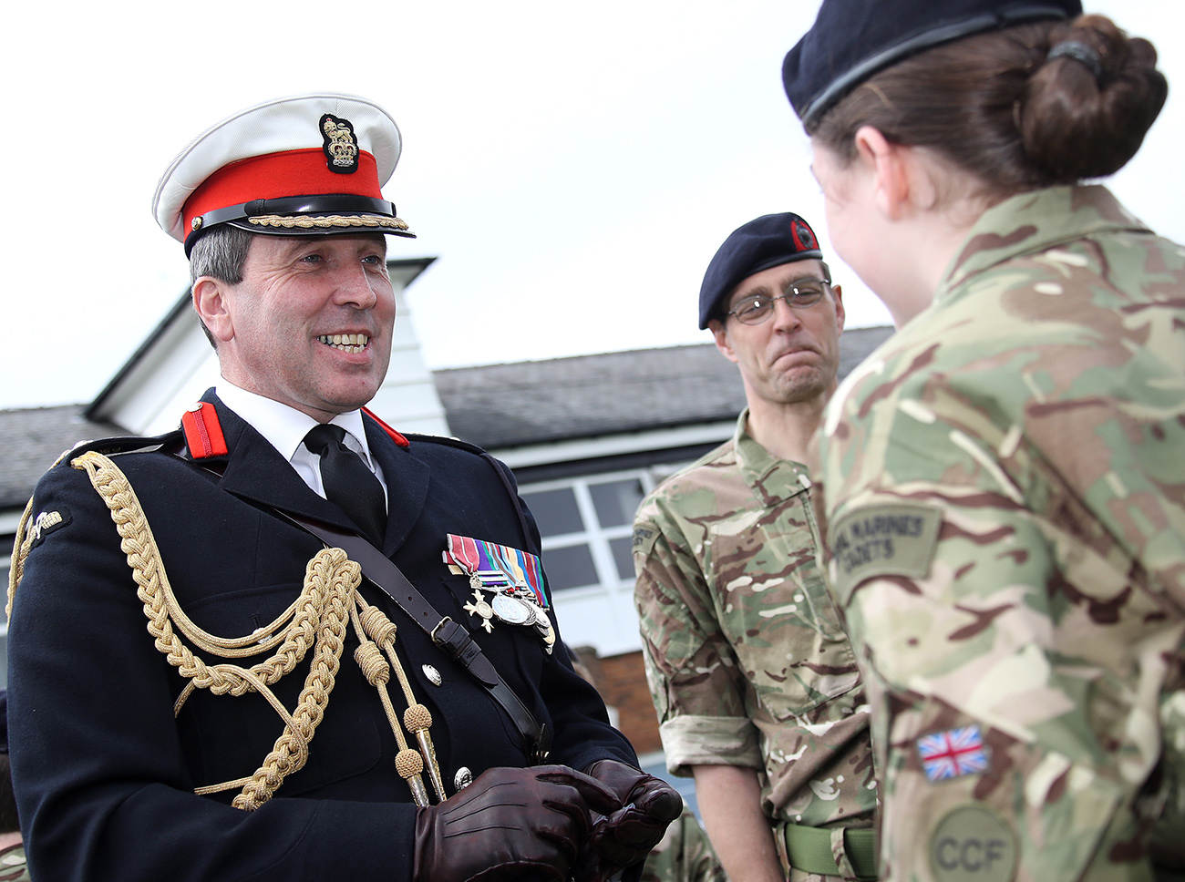 Senior Royal Marine opens school cadet force in Newcastle