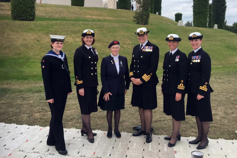 Naval servicewomen join sister services for Women At War centenary commemoration