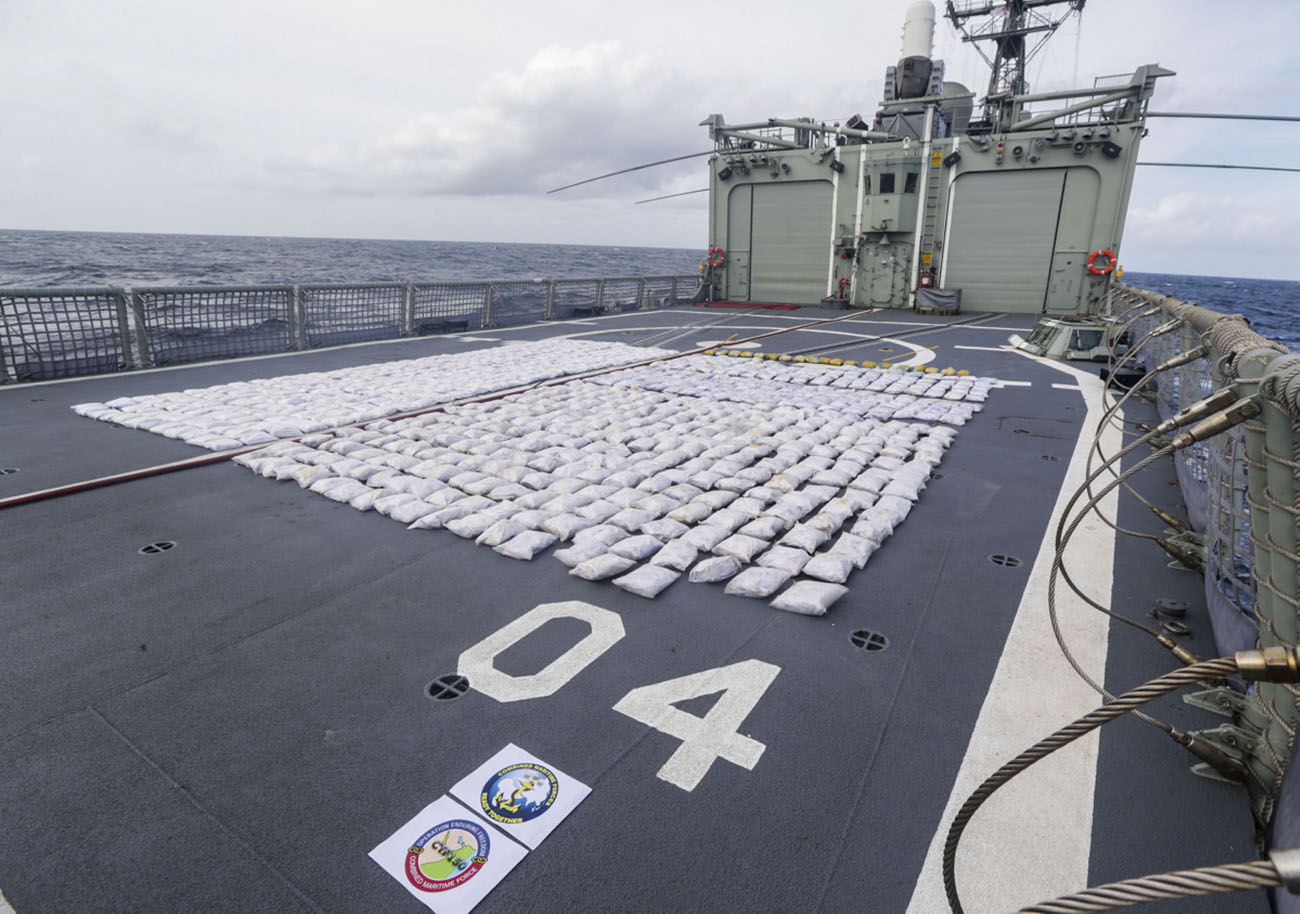 Royal Navy heads multi-nation task force in drugs bust