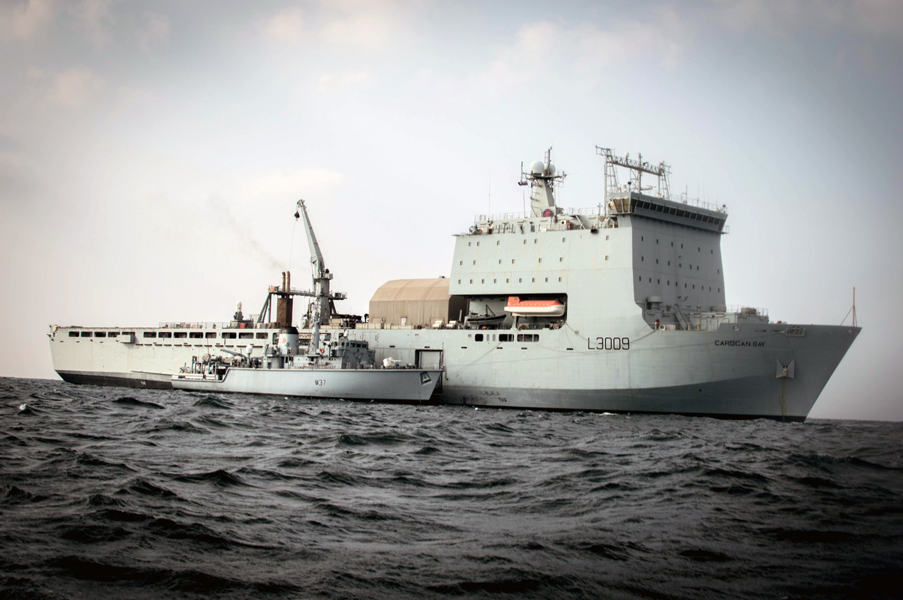 RFA Cardigan Bay returns home