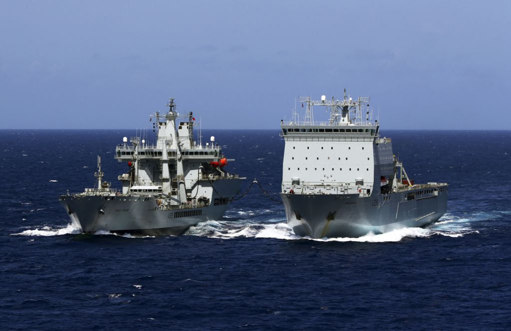 Wave Knight passes the North Atlantic Patrol baton to Mounts Bay