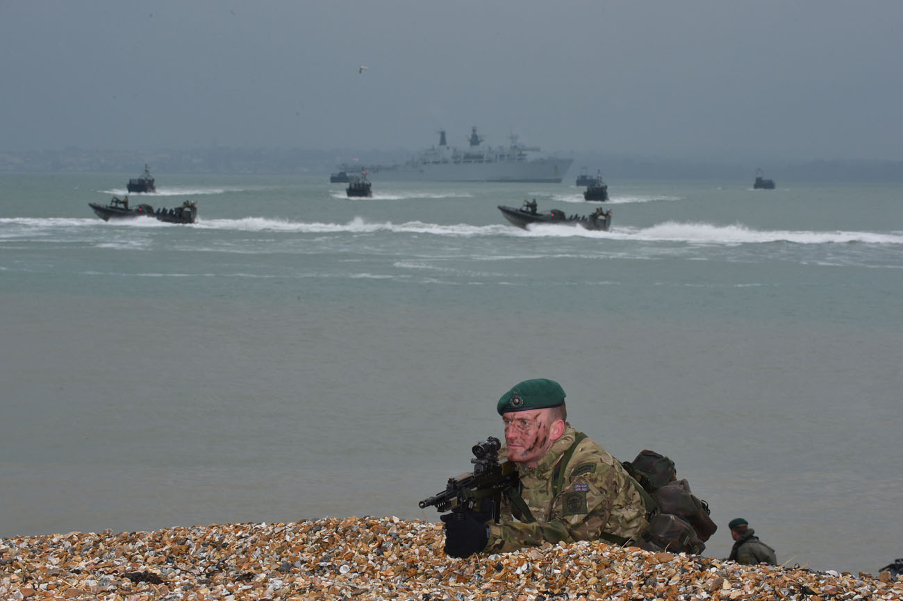 Royal Marines storm Browndown Beach