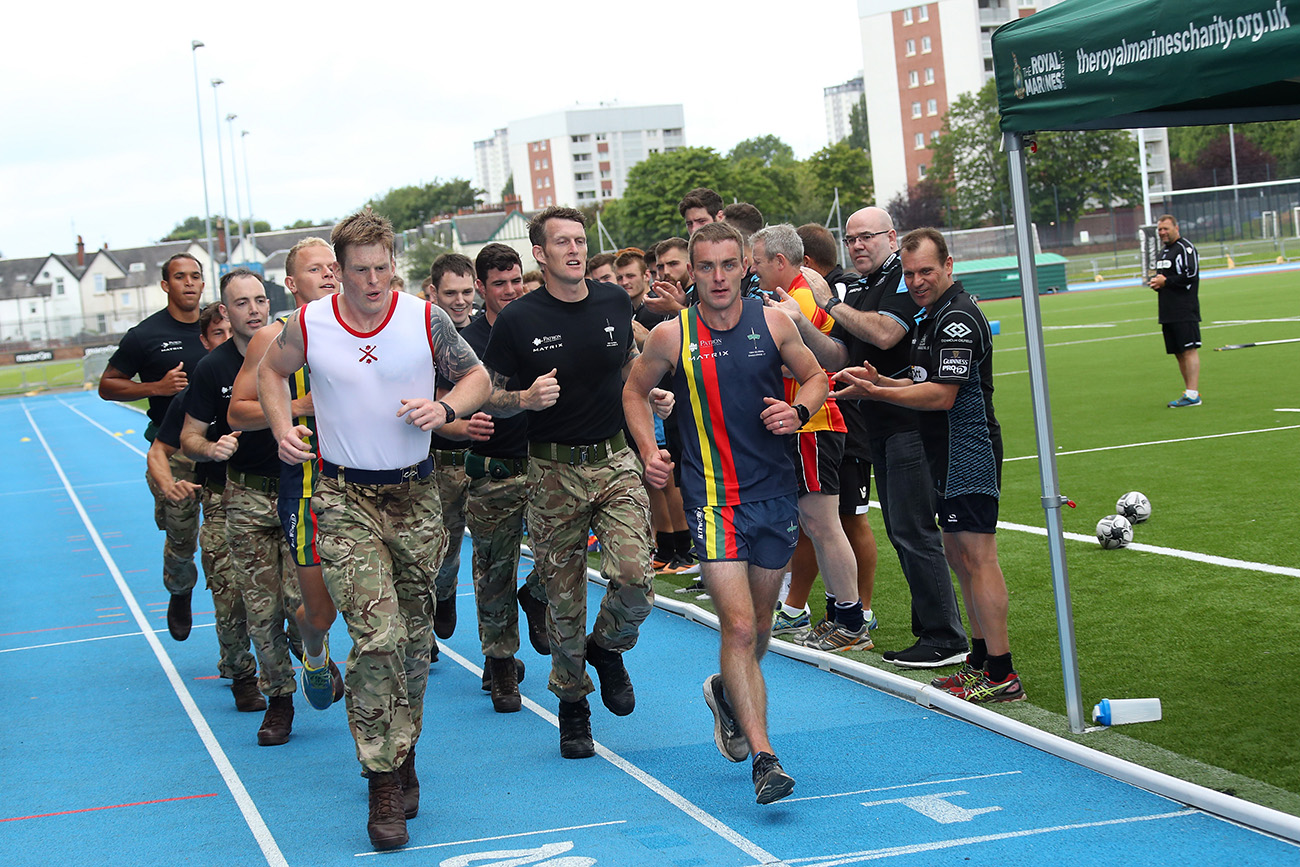 43 Commando complete their stage of the Royal Marines 1664 Challenge