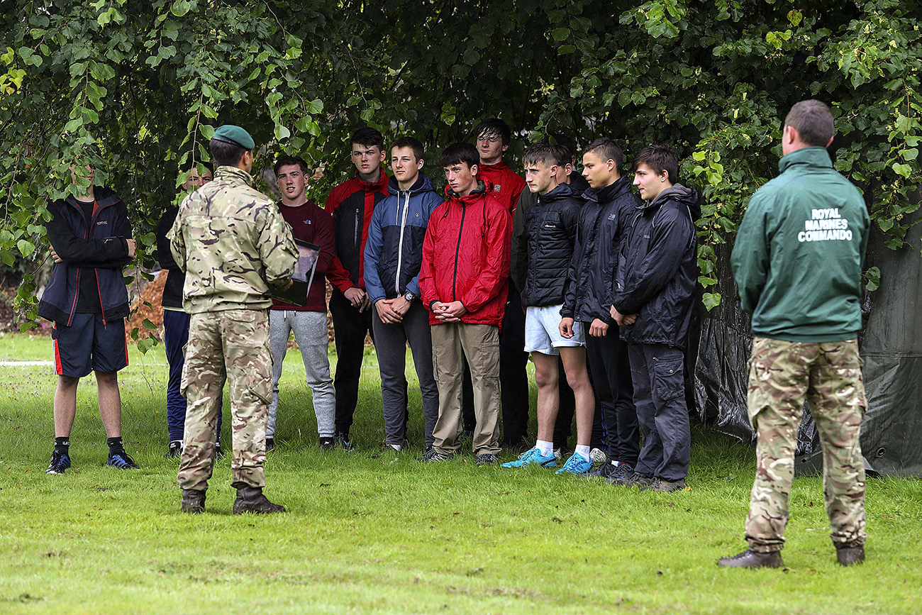 Plymouth students experience the Royal Marines for a week