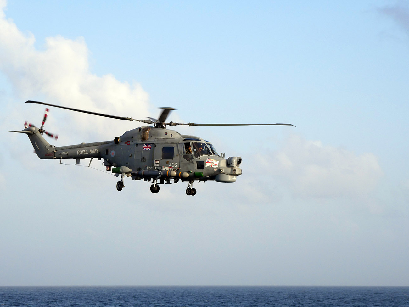 Sea Skua fired for last time by HMS Portland's Lynx