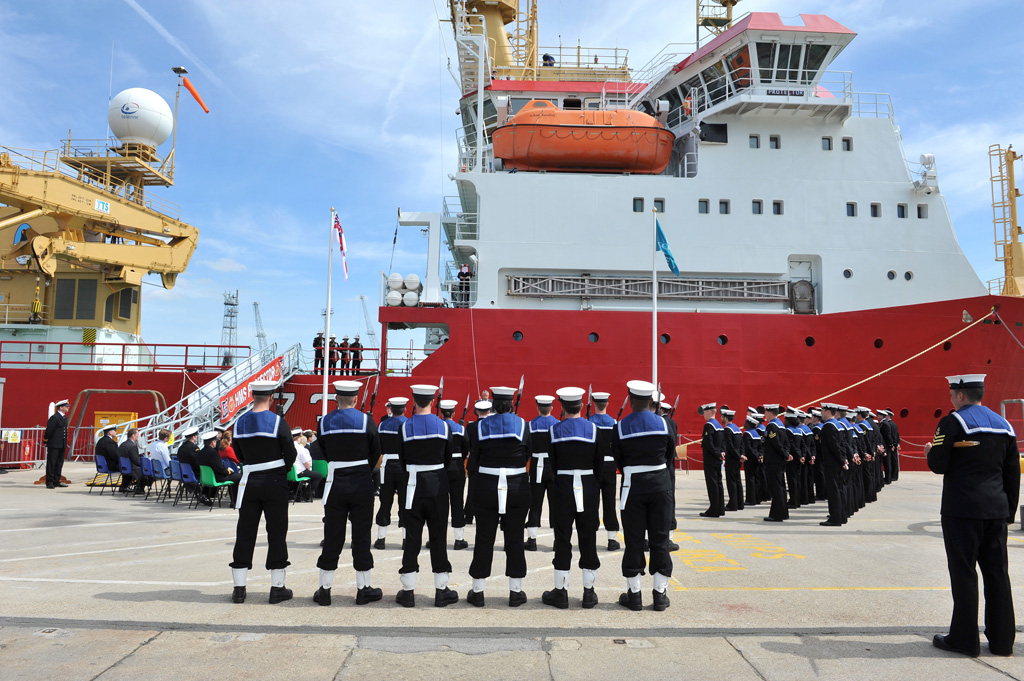 HMS Protector Naming Ceremony