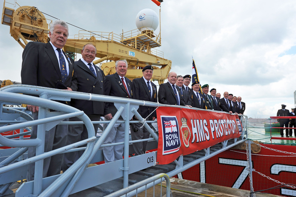 HMS Protectors commissioning Ceremony into the Royal Navy on the 23rd of June