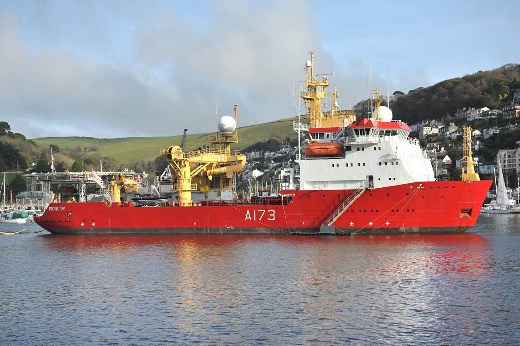 HMS Protector visits Dartmouth