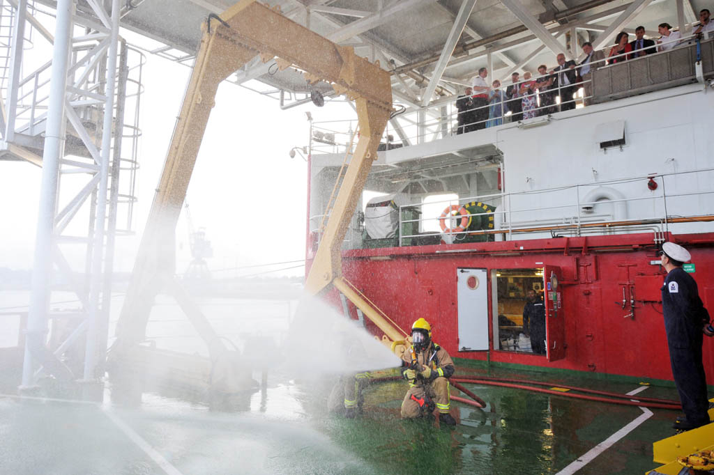 HMS Protector Visits Ipswich and Cambridge