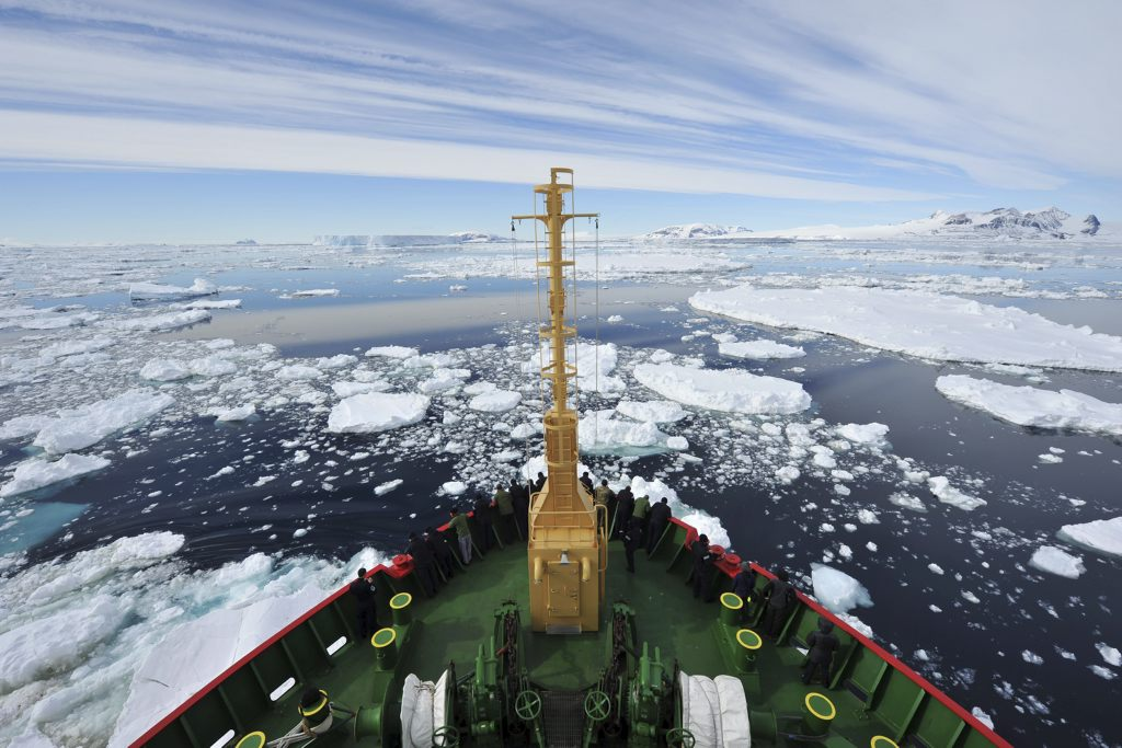 Ice Breaker Frees Trapped Cruise Liner