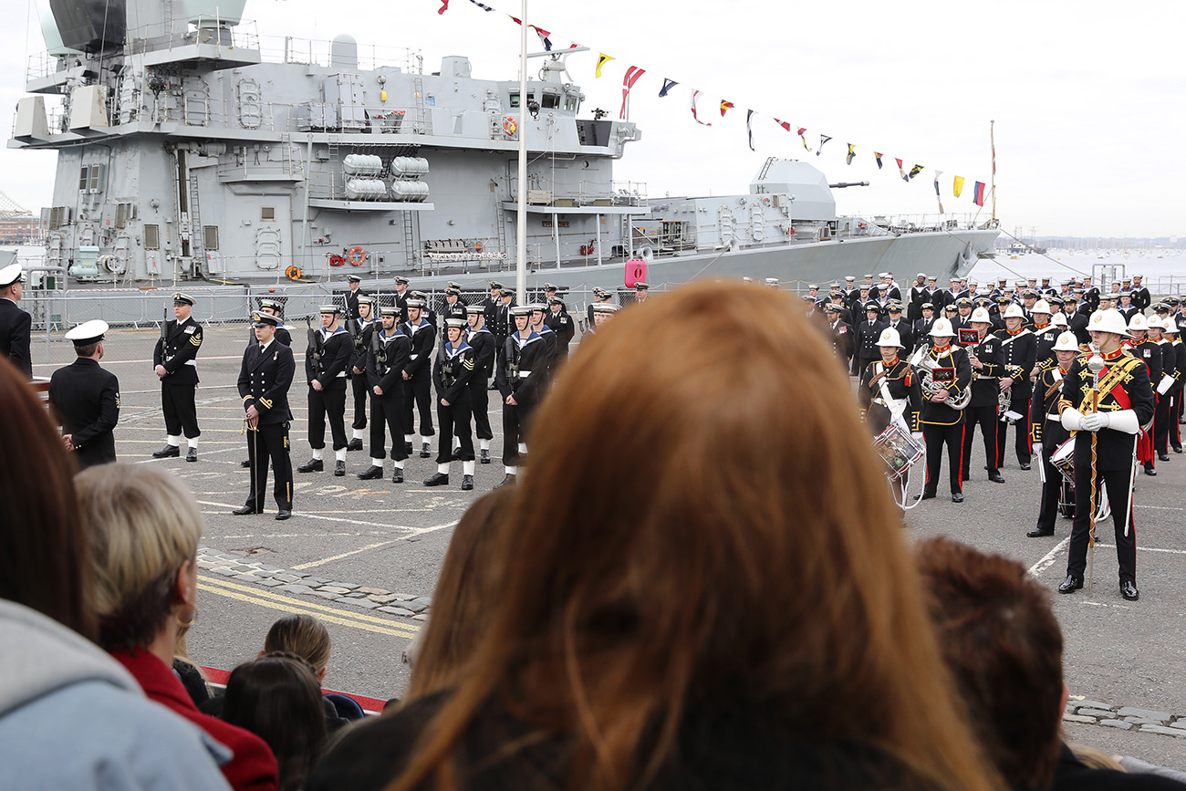 HMS Westminster makes Capital return to the Frontline
