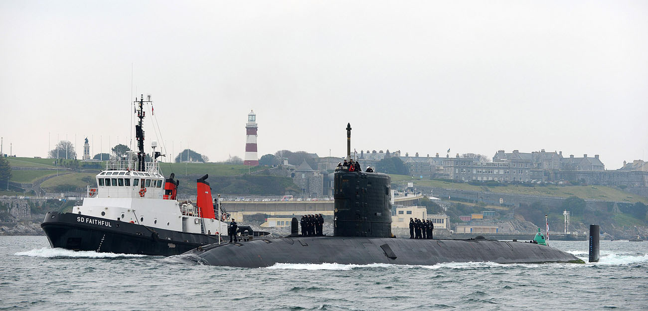 HMS Torbay home after six month patrol