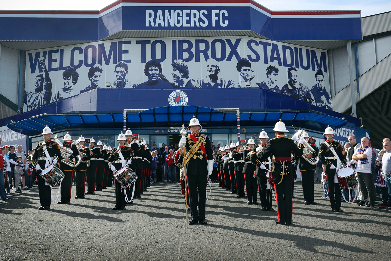 Glasgow Rangers honours 'true heroes in life' at special Armed Forces match