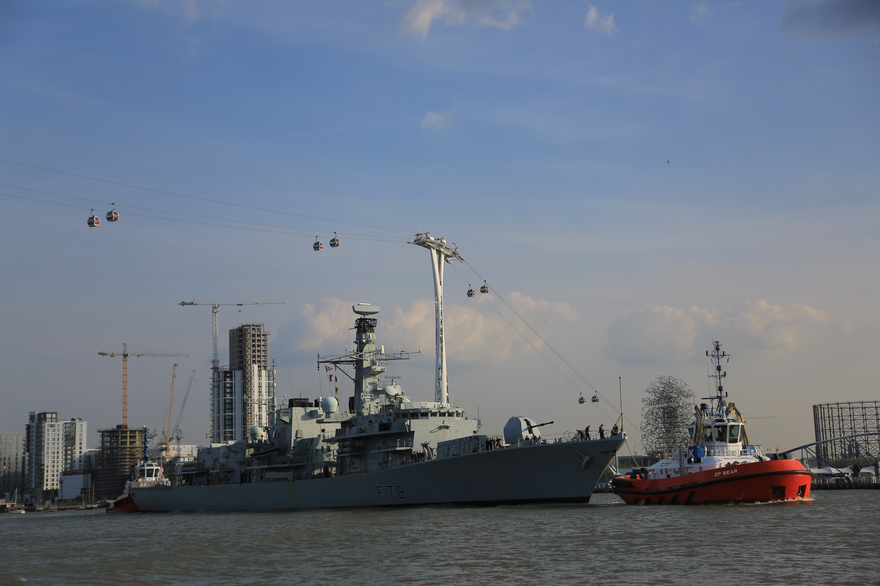 HMS Kent visits London
