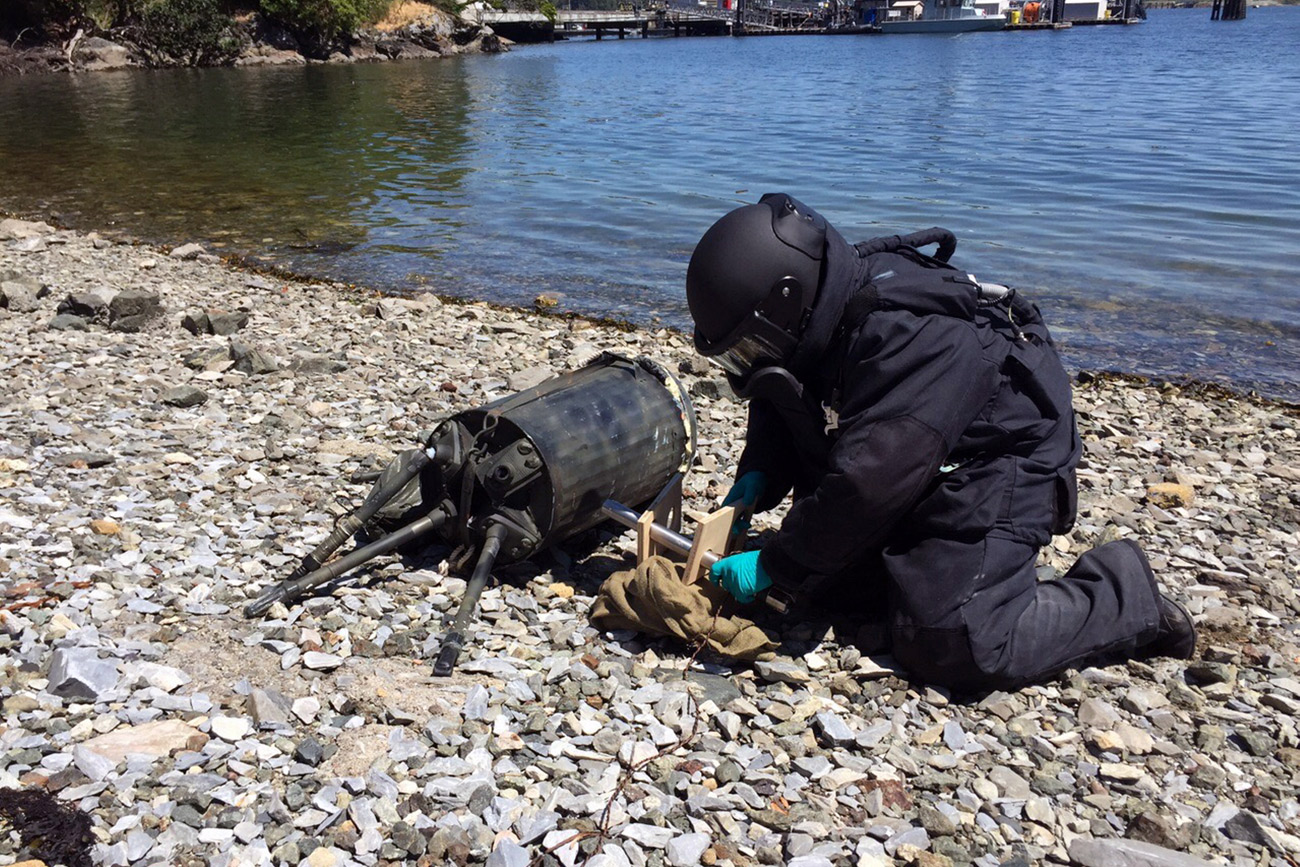 Navy's explosive experts in Canadian bomb disposal exercise
