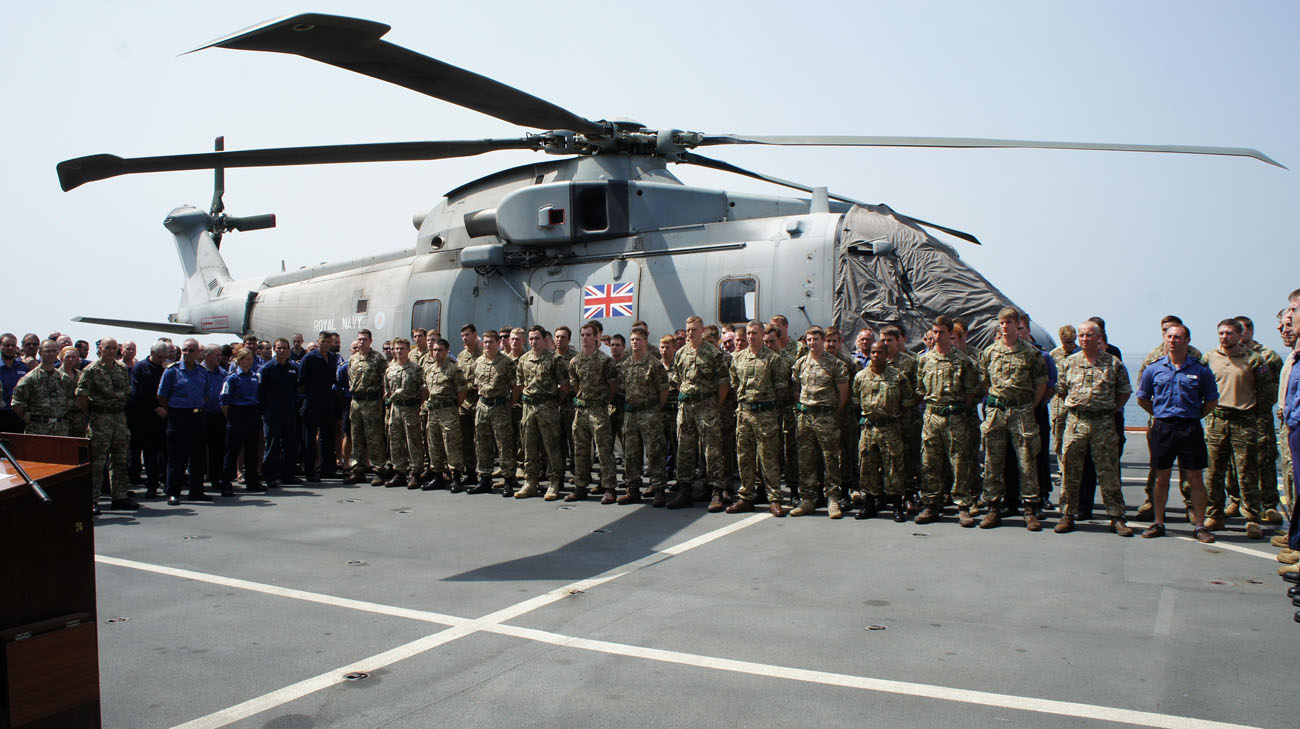 Personnel from 820 NAS commended for supporting education in Sierra Leone
