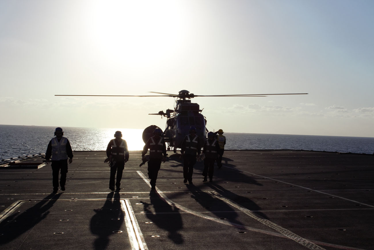 Royal Navy supporting maritime crime fighting operations in the Gulf