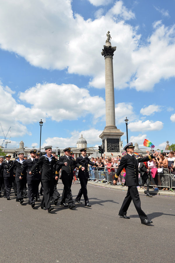Navy marches in London Pride