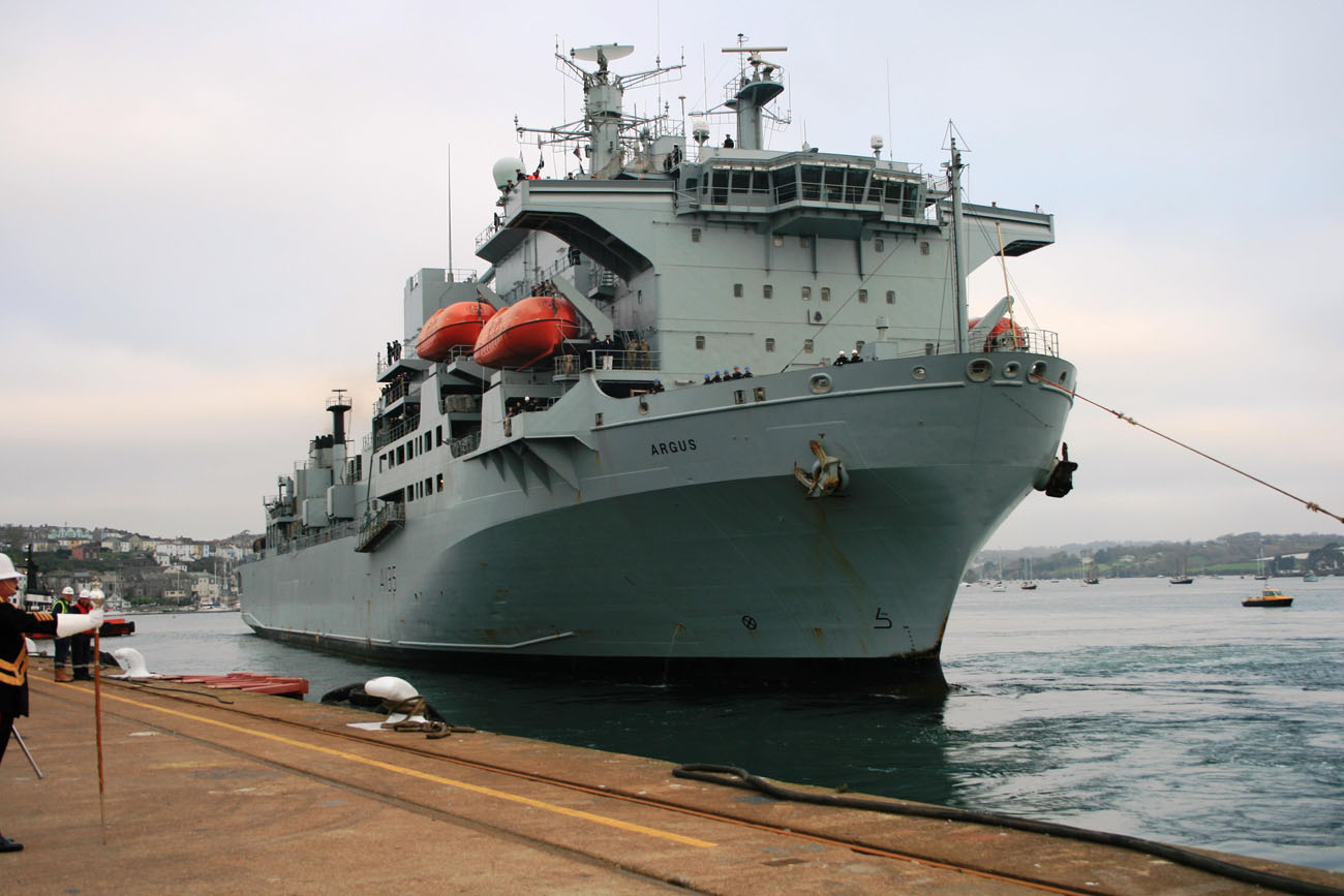 RFA Argus arrives back in the UK after Sierra Leone deployment
