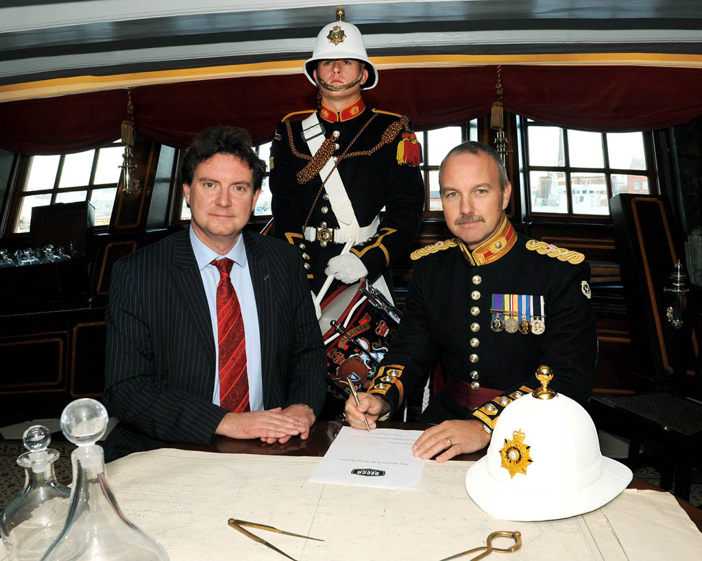 On the biggest day in the Navy calendar, Trafalgar Day, the world-famous Band of HM Royal Marines has signed a record deal with Universal Music, the world's leading record company