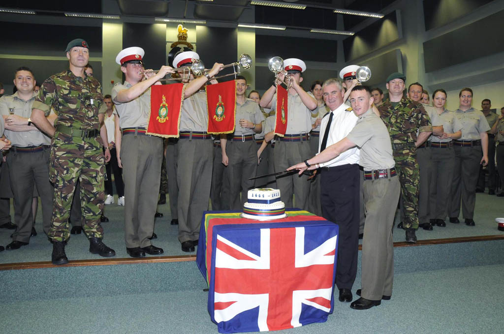 The Band of Her Majesty's Royal Marines Plymouth has celebrated the birth of the Royal Marine Corps with a fanfare salute