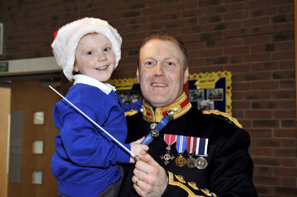 Royal Marines Musicians bring Festive cheer to schools in Portsmouth