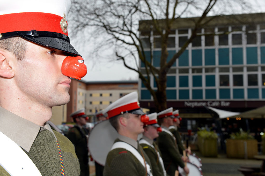 Military Musicians On Parade - Comic Relief-Style
