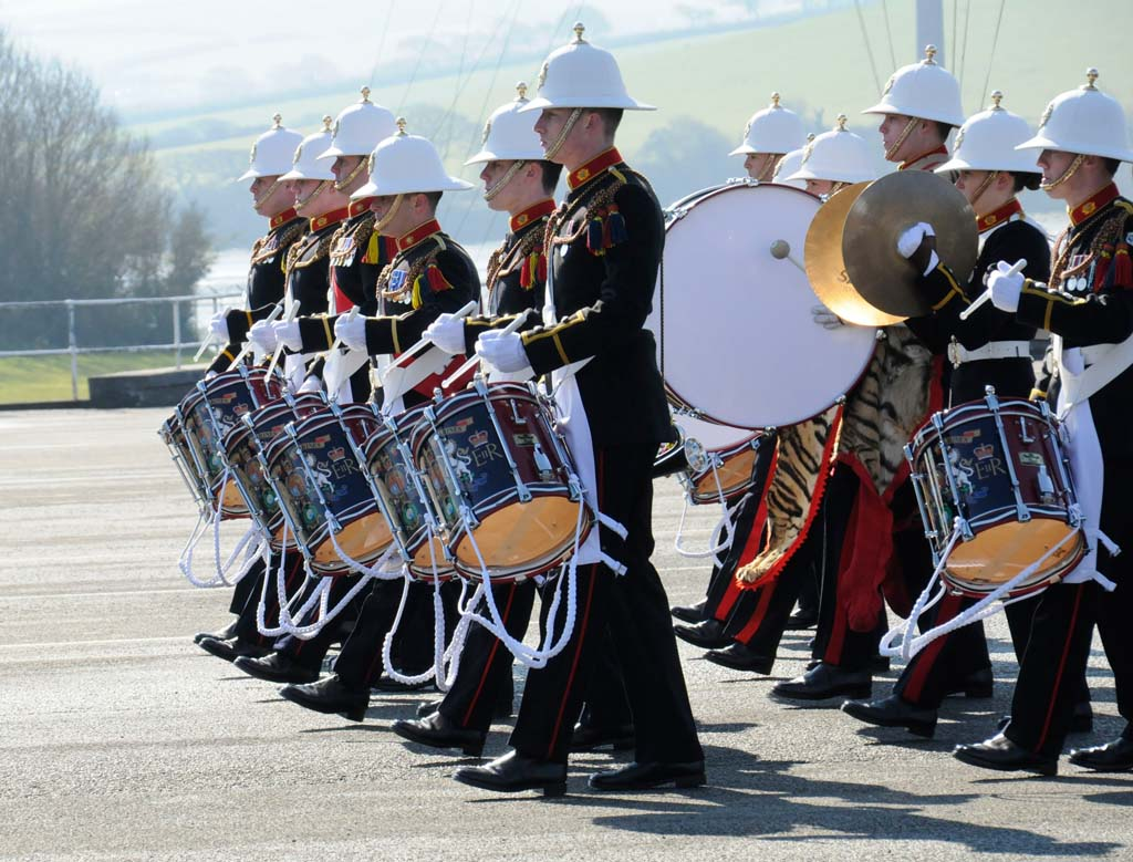 Plymouth-Royal-Marine-band-hit-the-right-note
